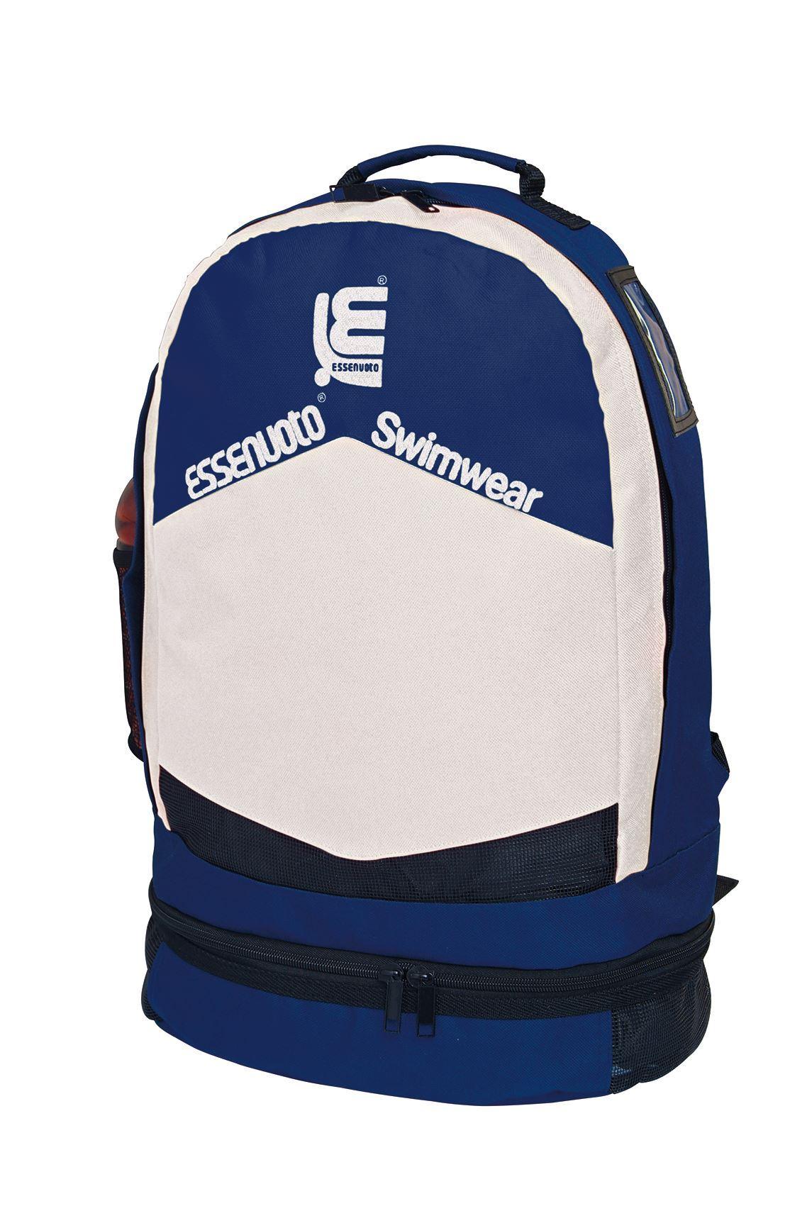 200002 - BACK PACK DARK BLUE WHITE WITH SOFT SHOULDER STRAP