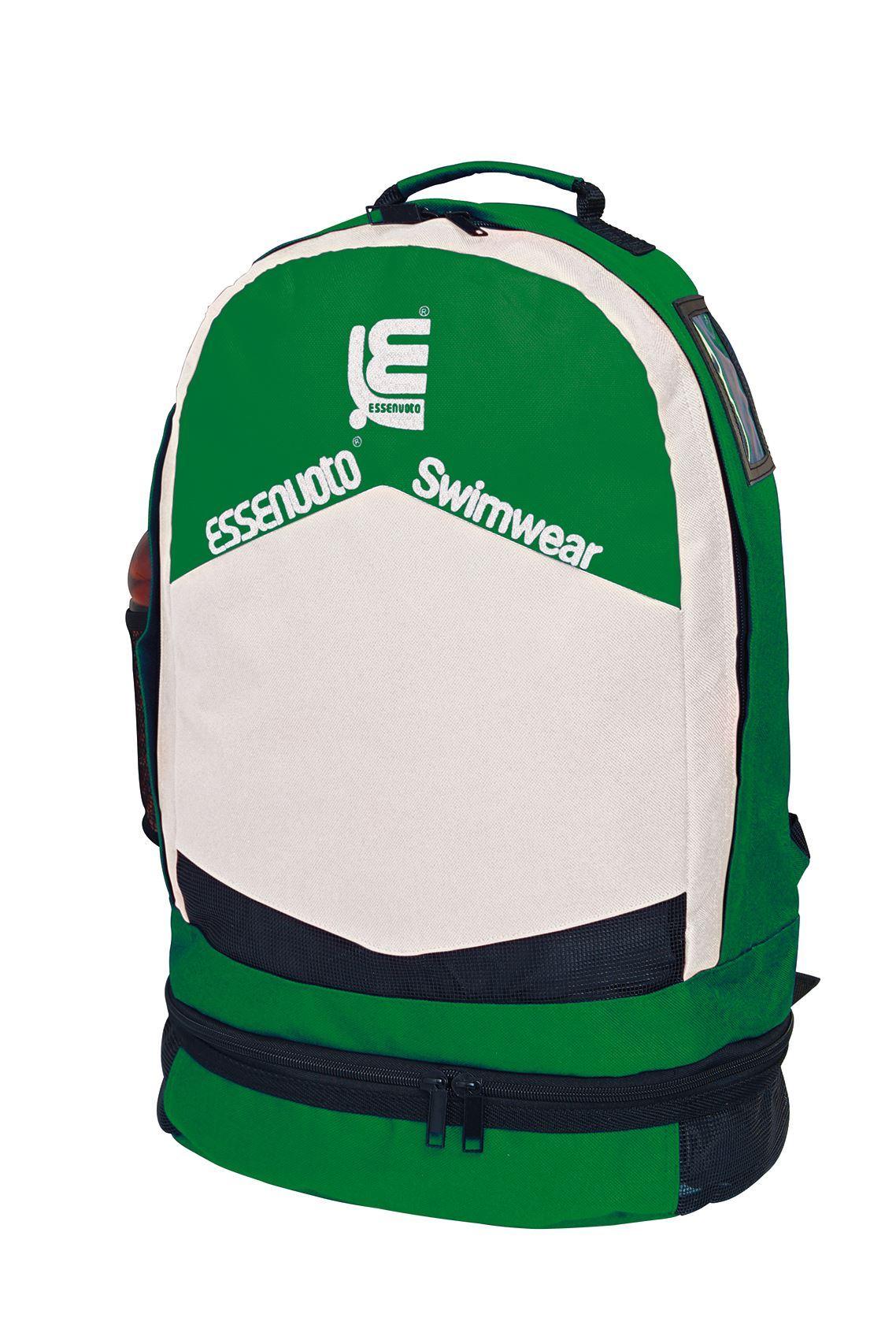 200002 - BACK PACK GREEN WHITE WITH SOFT SHOULDER STRAP