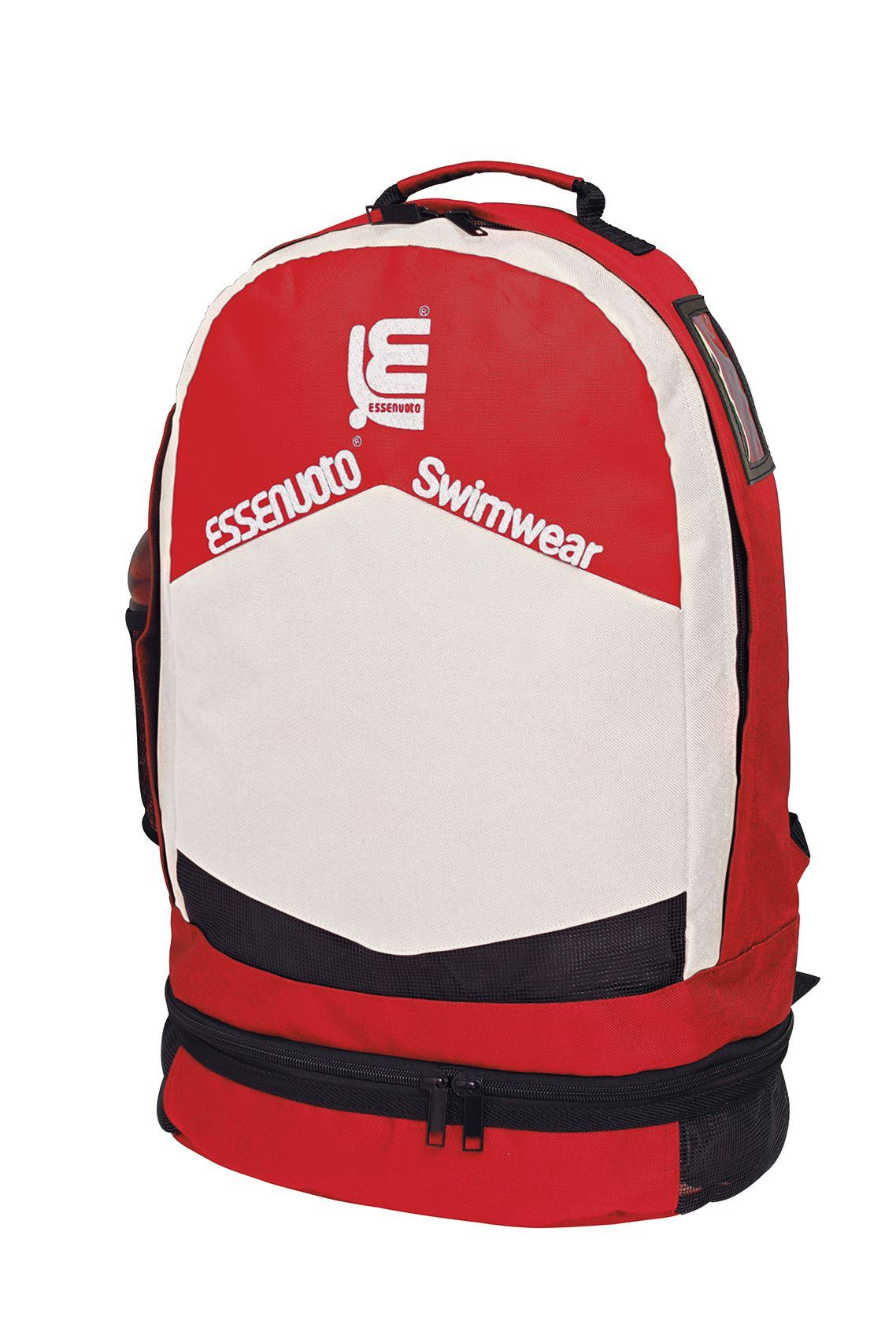 200002 - BACK PACK RED WHITE WITH SOFT SHOULDER STRAP
